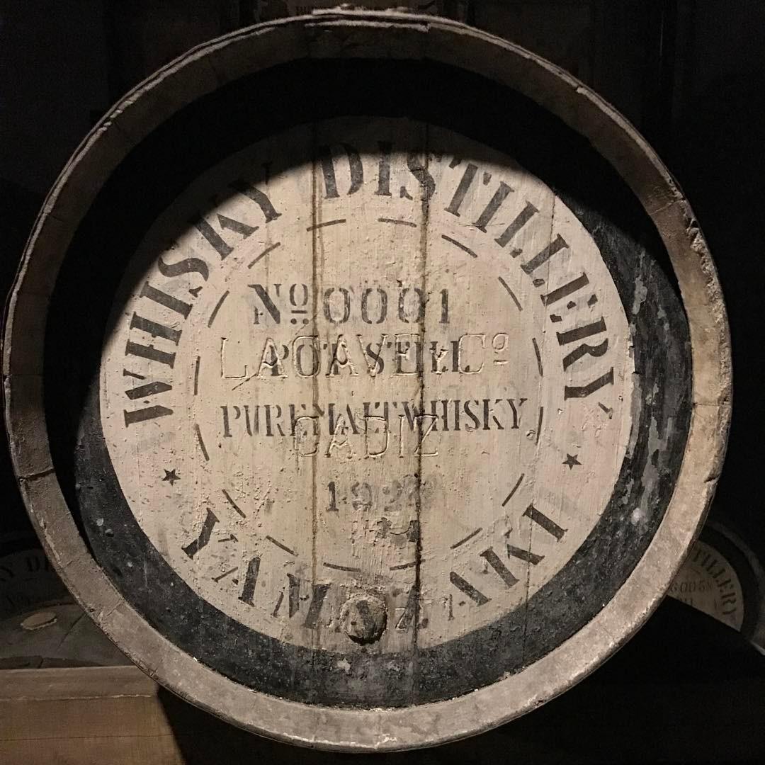山崎蒸溜所が出来た頃のウイスキー樽