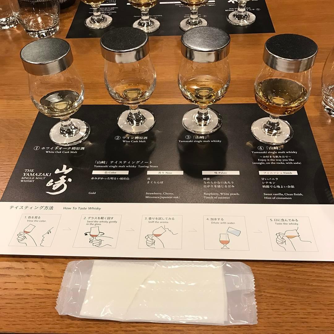 ウイスキーの試飲