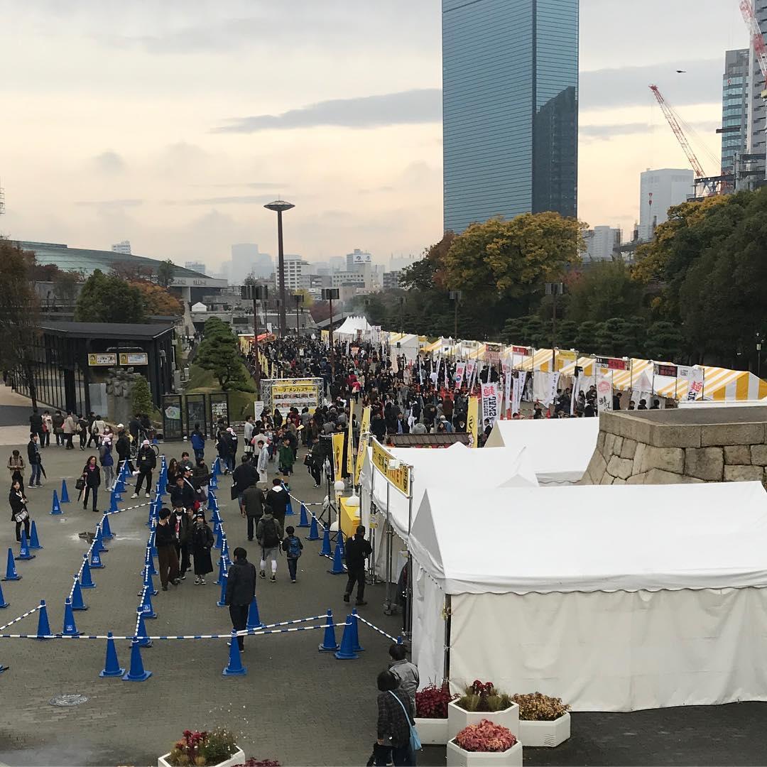 JR大阪城公園駅の駅前広場