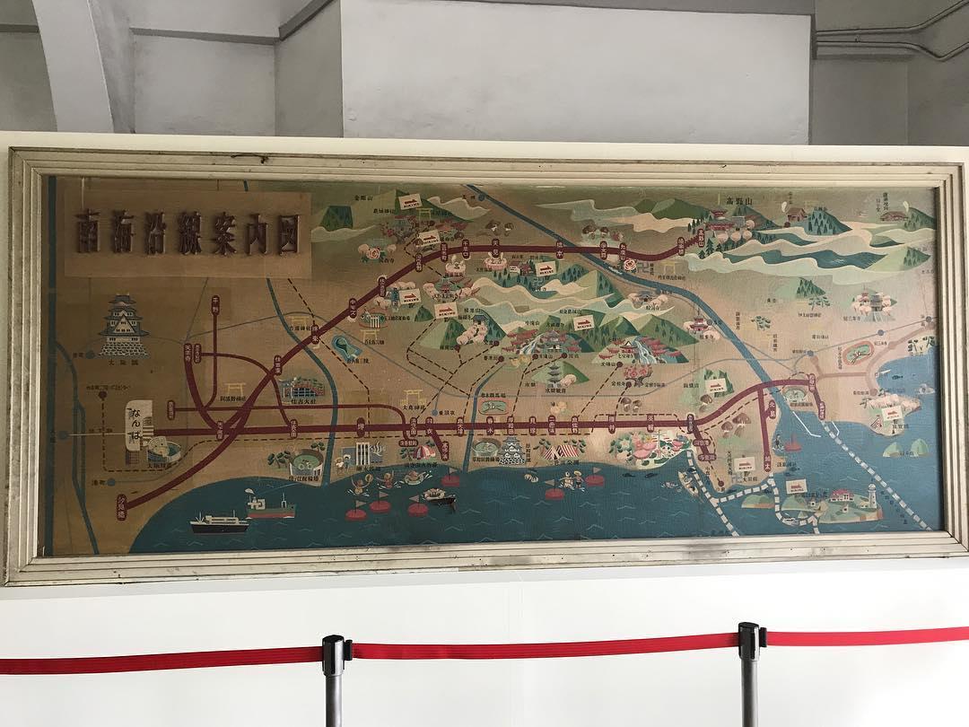 難波駅に飾られていた南海沿線案内図