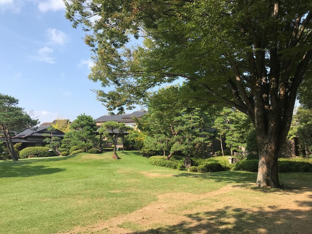 常磐ホテルの庭園
