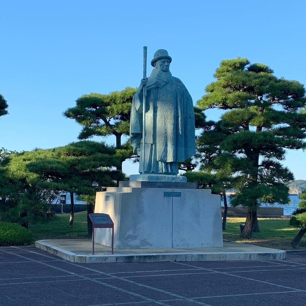 御木本幸吉翁の銅像