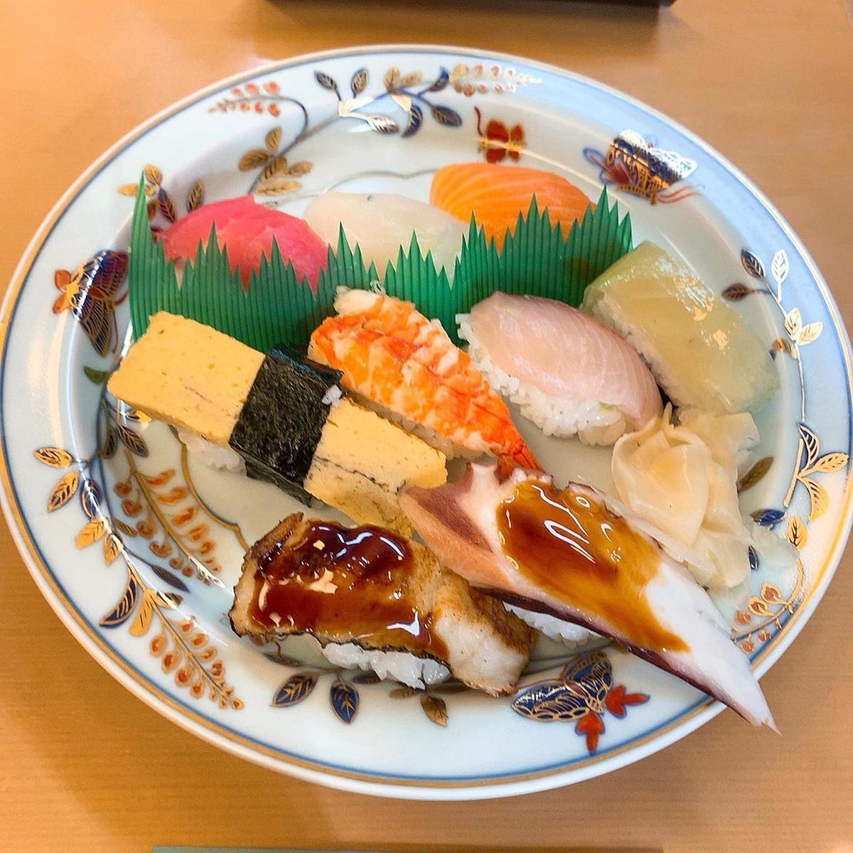 駒すしのにぎり寿司セット