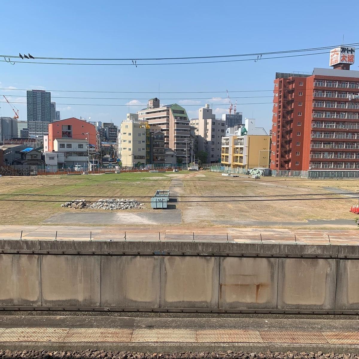 新今宮駅北側の空き地