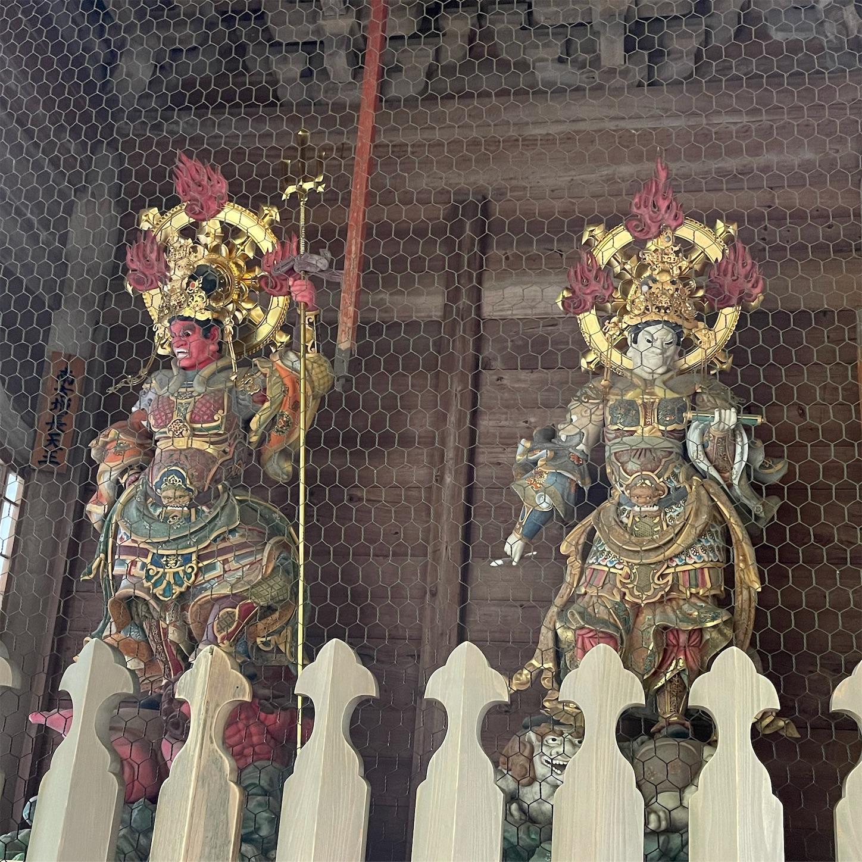 永平寺山門の四天王像