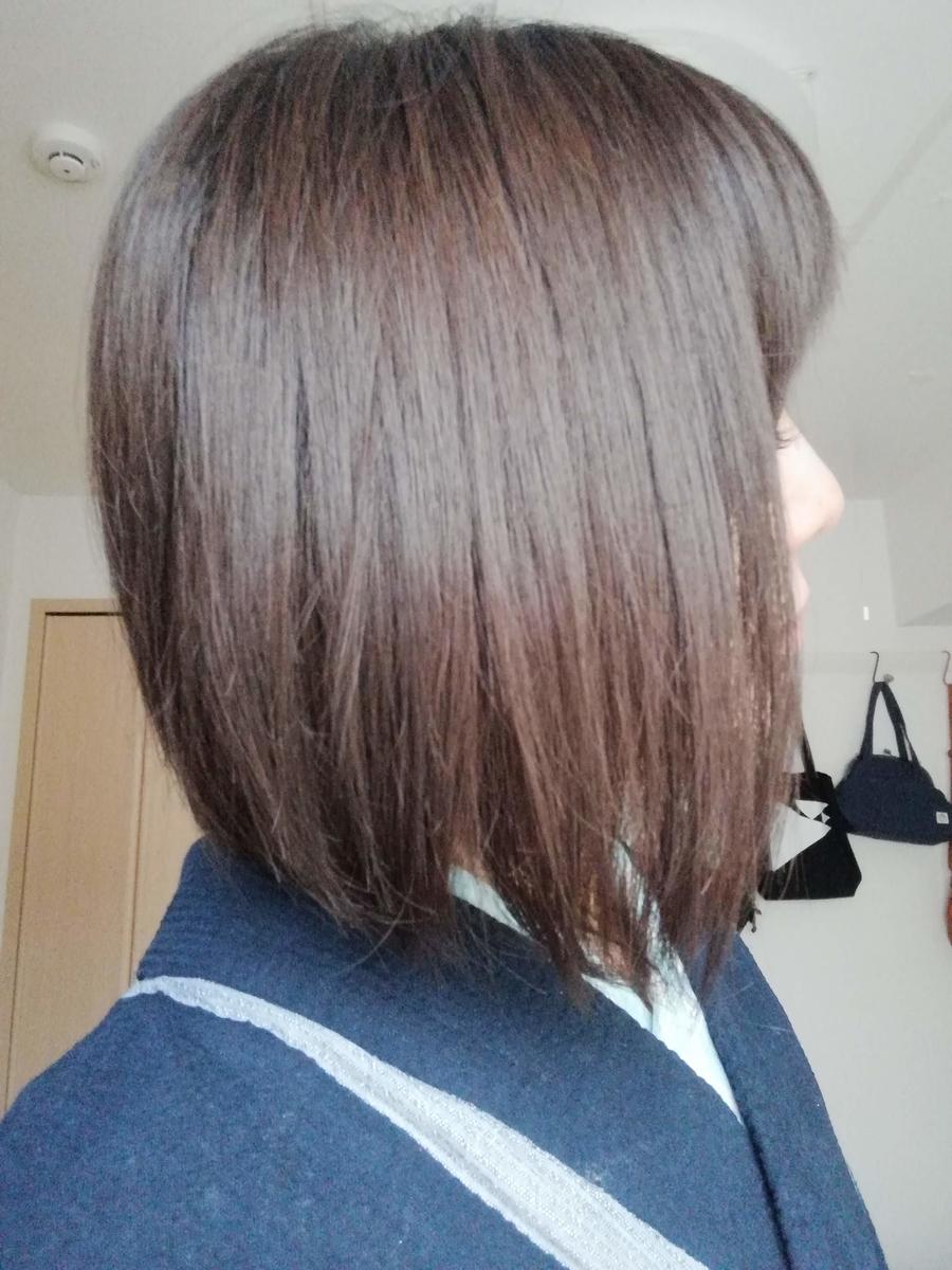現在の髪の毛の感じの画像です