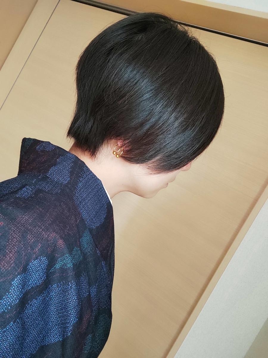 今の髪の毛の様子の画像です
