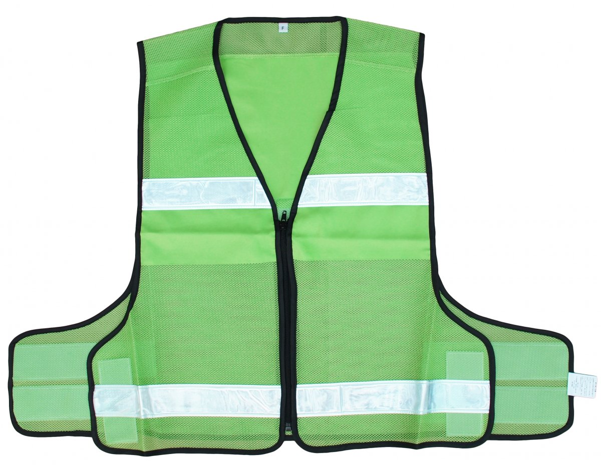 蛍光緑のメッシュベストの画像です