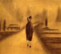 小関庄太郎「1人歩く」1929年 ゼラチンシルバー