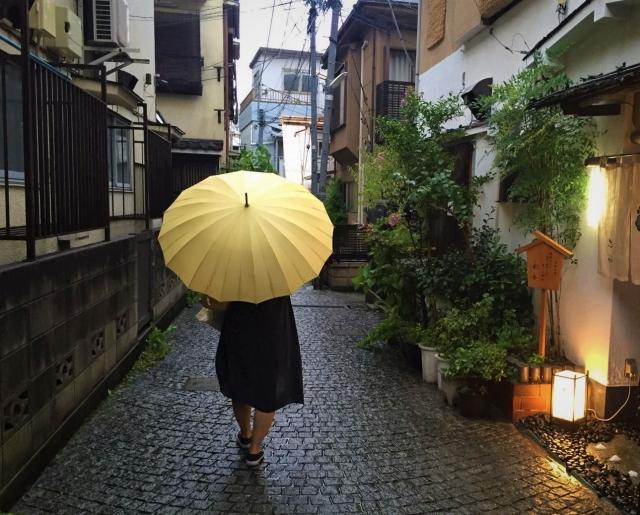 傘を持つ=太極拳などの運動をして健康的な身体を備える