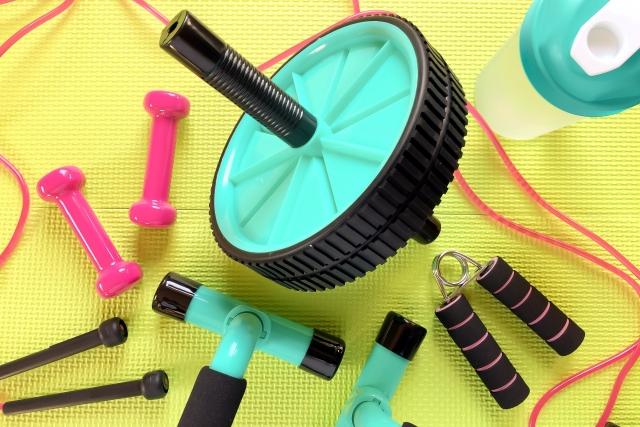 色々な器具を使っての運動