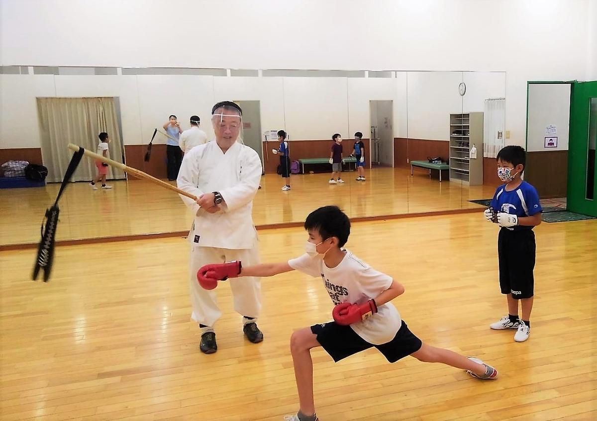 子供カンフー、対戦練習