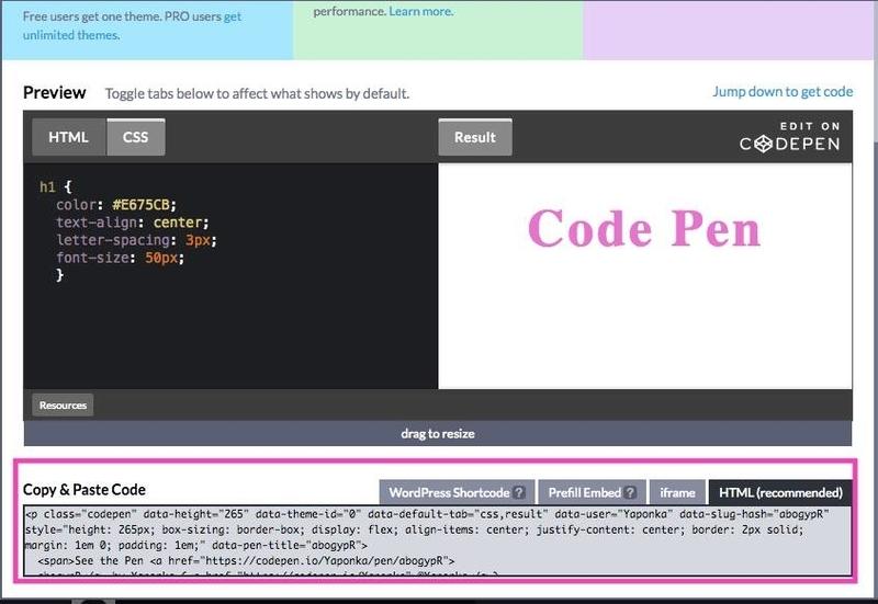 Code Pen embed
