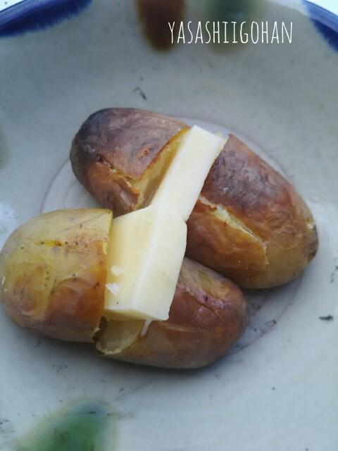 じゃがいも丸焼きチーズのせ