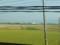 宍道駅付近の車窓。出雲空港は列車からもみられるところにあるので