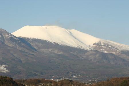 白銀の浅間山