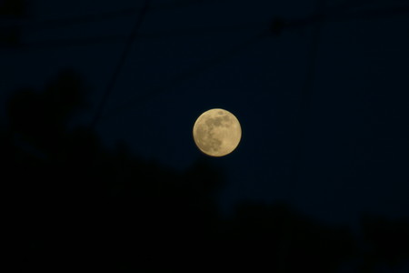 霜月十五夜、満月