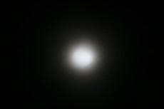 十七日の月・朧月