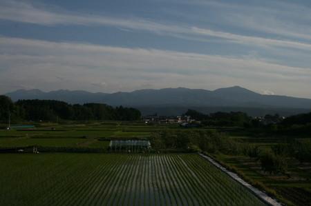 [稲田から「八ヶ岳連峰]