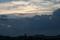 ちょっと変わった夕焼け雲