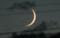 「文月三日」のお月さま。(22.8.12)(19:12)