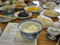 収穫祭、昼食会・「陸羽132号(賢治米)」の試食。(23.11.