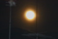 ベランダから観た「十二月十七日のお月さま」。(