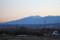 夕暮れ時、長く裾を引く、「八ヶ岳連峰」。(24.2.20)