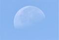 「文月二十一日」のお月さま。(24.9.7)(9:58)