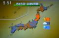 テレビの気象情報。(25.5.18)