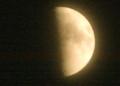 「卯月九日・上弦」のお月さま。(25.5.18)(19:04)