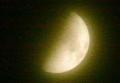 「卯月九日・上弦」のお月さま。(25.5.18)(20:28)