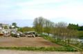 稲荷山橋から見た、「植木市」の会場。(25.5.19)