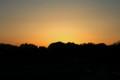 西空は夕焼け。(25/5/24)(18:39)