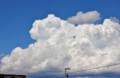 青空に、むくむくと白い入道雲が…。(25.7.8)