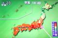 テレビ画面、「猛暑の日本列島」。(25.7.9)