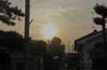 薄雲を透かして、ほんのり太陽が…。(25.8.23)(5:51)