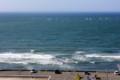 波が寄せる、湘南の海。(25.9.1)(9;02)