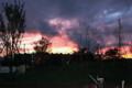 燃えるように真っ赤な夕日。(25.9.8)(18:15)
