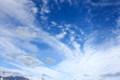 青空に、秋の白い雲が広がる。(