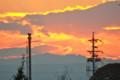 燃えるような夕焼け空。(