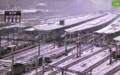 積雪の東京駅。(26.2.8)(7:40)