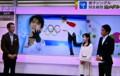 テレビ、「羽生結弦選手、金メダル」。(26.2.15)
