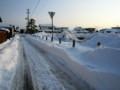 圧雪状態の、市道・生活道路。(26.2.20)