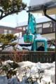 大型重機、生活道路の除雪。(26.2.23)