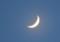 ほんのり輝く、「皐月五日」のお月さま。(26.6.2)(19:22)