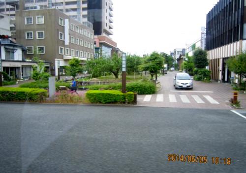 飯田市街の「リンゴ並木」。(26.6.5)