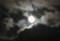 雲間に見えた「中秋十四日」の月。(26.9.7)