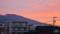 浅間山にも。朝焼け雲が…。(26.9.15)(5:27)
