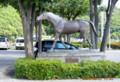望月の象徴・馬の像。(26.9.27)
